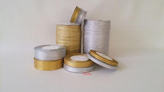 Аппликации, вставки, отделка ручной работы. Ярмарка Мастеров - ручная работа. Купить Лента декоративная золото, серебро. Handmade. Лента