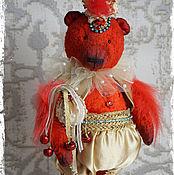 Куклы и игрушки ручной работы. Ярмарка Мастеров - ручная работа Петушок - коллекционный плюшевый медведь. Handmade.