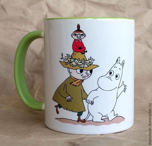 """Кружки и чашки ручной работы. Ярмарка Мастеров - ручная работа. Купить Чашка """"Снусмумрик"""". Handmade. Чашка, салатный, мумми-троли"""
