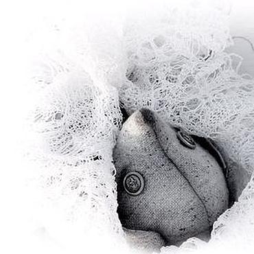 Куклы и игрушки ручной работы. Ярмарка Мастеров - ручная работа СтешА кролик тедди серый. Handmade.