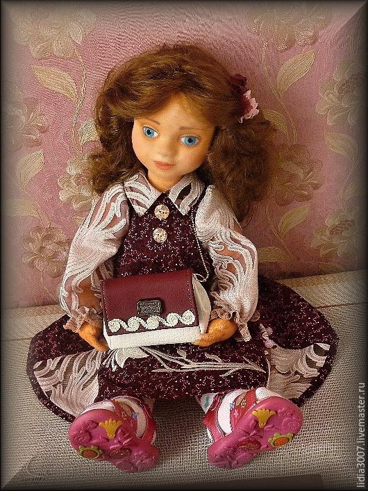 Коллекционные куклы ручной работы. Ярмарка Мастеров - ручная работа. Купить Анюта. Авторская кукла.. Handmade. Бордовый, коллекционная кукла
