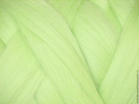 Валяние ручной работы. Ярмарка Мастеров - ручная работа. Купить Шерсть для валяния меринос 18 микрон цвет Хлорофилл (Chlorophyll). Handmade.
