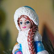 Для дома и интерьера ручной работы. Ярмарка Мастеров - ручная работа Снегурочка, ёлочная игрушка, фигурка папье маше.. Handmade.