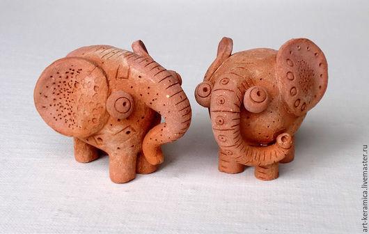 Миниатюрные модели ручной работы. Ярмарка Мастеров - ручная работа. Купить Слоны керамические без росписи. Фигурки слонов из глины. Handmade.