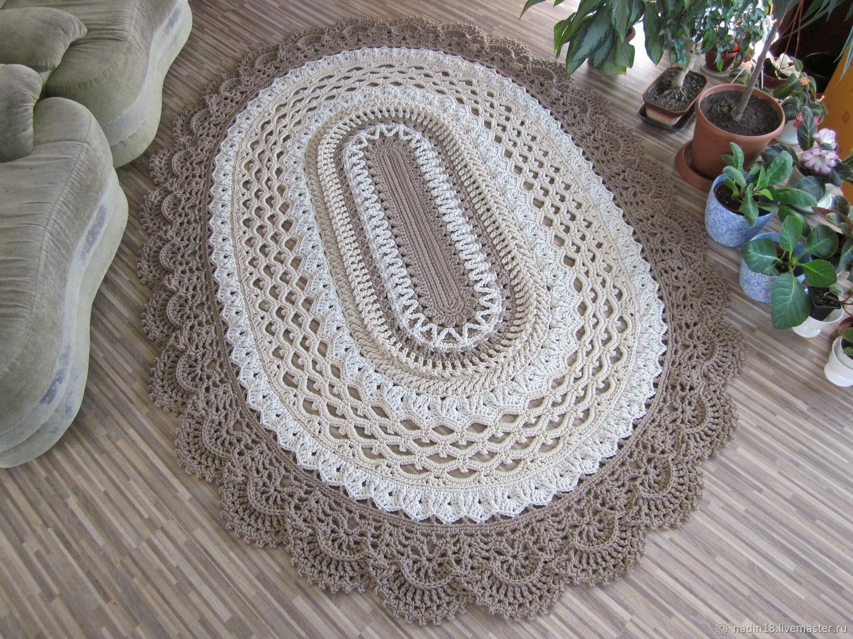 Вязание ковриков к кровати