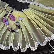 Материалы для творчества ручной работы. Ярмарка Мастеров - ручная работа Кружево 435 вышивка на сетке, кружево с вышивкой. Handmade.