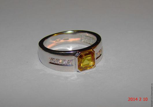 Кольца ручной работы. Ярмарка Мастеров - ручная работа. Купить золотое кольцо с сапфиром и бриллиантами. Handmade. Белое золото, бриллианты