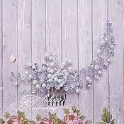 Свадебный салон ручной работы. Ярмарка Мастеров - ручная работа Веточка для волос в сиреневом цвете. Handmade.