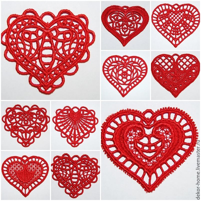 Set of hearts from 10 pieces, Christmas decorations, Moscow,  Фото №1
