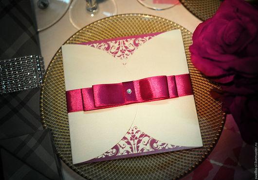 Приглашение на свадьбу  `Фуксия`