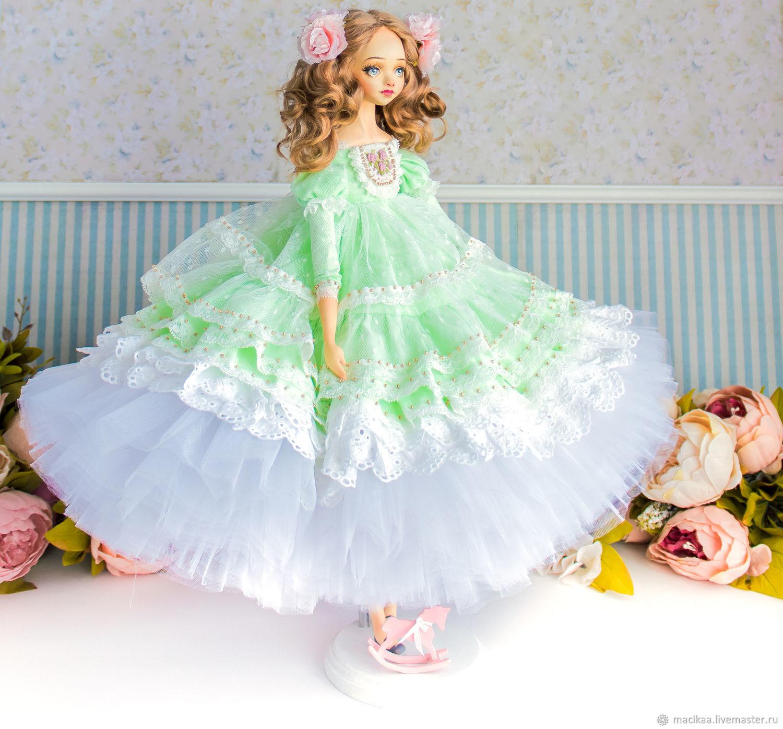 Принцесса Августина авторская интерьерная, новый год 2020, Шарнирная кукла, Нижний Новгород,  Фото №1