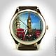 """Часы ручной работы. Ярмарка Мастеров - ручная работа. Купить Наручные часы женские """"Небо Лондона"""".. Handmade. Часы, англия"""