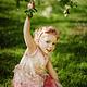 Одежда для девочек, ручной работы. Платье для девочки из войлока. AneleStudio. Ярмарка Мастеров. Яблоневый цвет, лето, шелковое платье