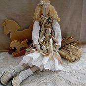 Куклы и игрушки ручной работы. Ярмарка Мастеров - ручная работа Тильда кукла Майя и зая бохо стиль. Handmade.