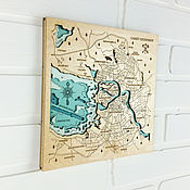 Картины и панно handmade. Livemaster - original item Map of the depths of Saint Petersburg. Bathymetric.. Handmade.