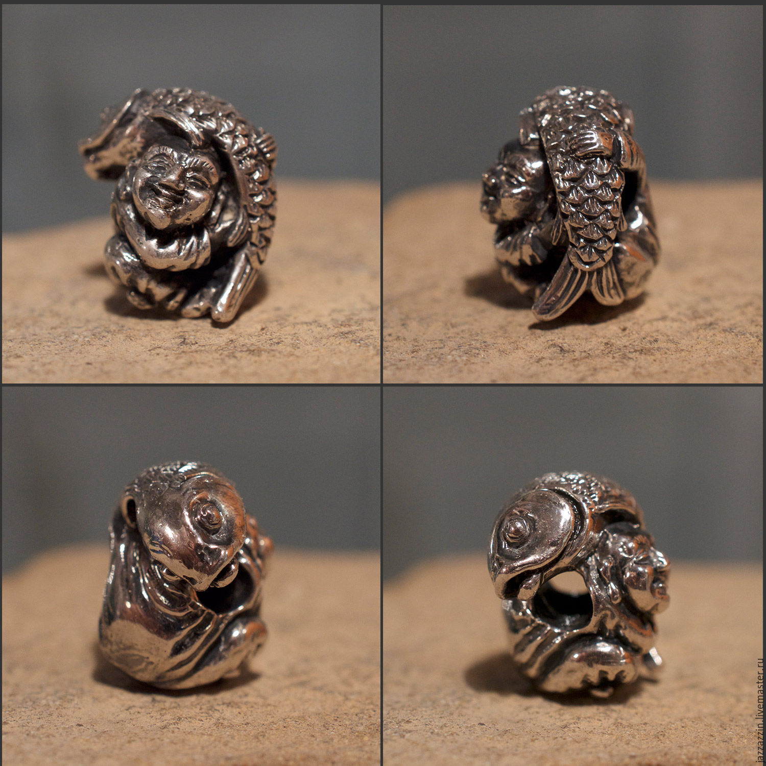 All for Jewelry Making handmade. Livemaster - handmade. Buy The Seven Lucky Gods: Ebisu.Charm, japan, trollbeads
