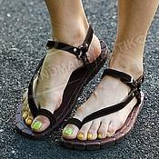 Обувь ручной работы manualidades. Livemaster - hecho a mano Sandalias de cuero y suede de Brown. Handmade.