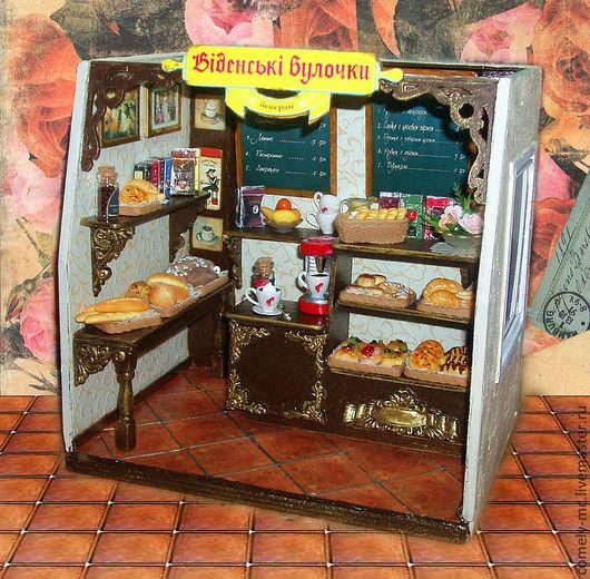 Кукольный дом ручной работы. Ярмарка Мастеров - ручная работа. Купить Кафе. Handmade. Кукольная миниатюра, Кафе