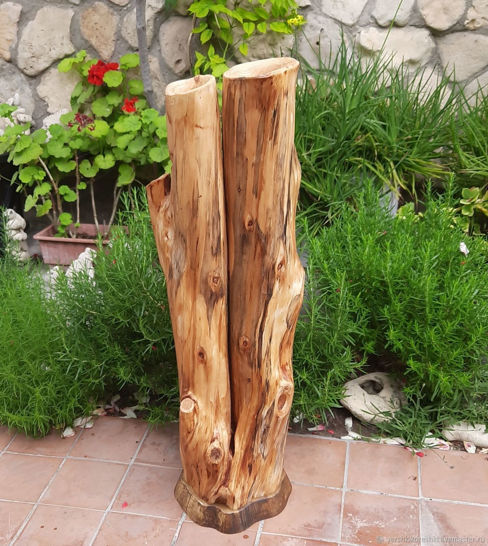 Floor vase made of cypress, Vases, Chernomorskoe,  Фото №1
