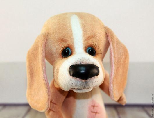 Игрушки животные, ручной работы. Ярмарка Мастеров - ручная работа. Купить Пёс Бобо. Handmade. Бежевый, собака тедди, плюш