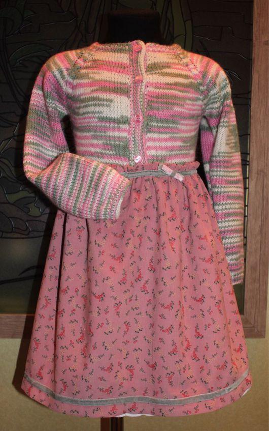 Одежда для девочек, ручной работы. Ярмарка Мастеров - ручная работа. Купить Платье для осени. Handmade. Розовый, полушерсть, батистовое шитье
