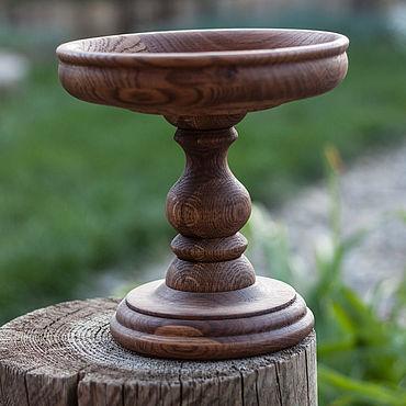 Для дома и интерьера ручной работы. Ярмарка Мастеров - ручная работа Фруктовница из дуба. Handmade.