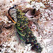Картины и панно handmade. Livemaster - original item Oriental painting. Peacocks. Handmade.