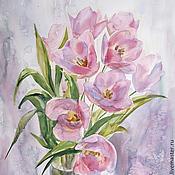Картины и панно handmade. Livemaster - original item Pink tulips. Handmade.