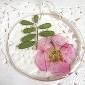 Украшения handmade. Livemaster - original item Transparent Earrings with Real Wildflowers Lilac Flowers Eco 2. Handmade.