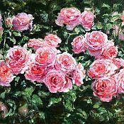 Картины и панно handmade. Livemaster - original item Oil painting Sun in the rose garden impressionism. Handmade.