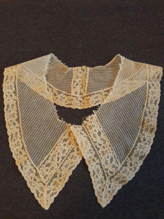 Одежда. Ярмарка Мастеров - ручная работа. Купить Старинный кружевной воротник. Handmade. Воротник, антик, одежда для кукол, рукоделие