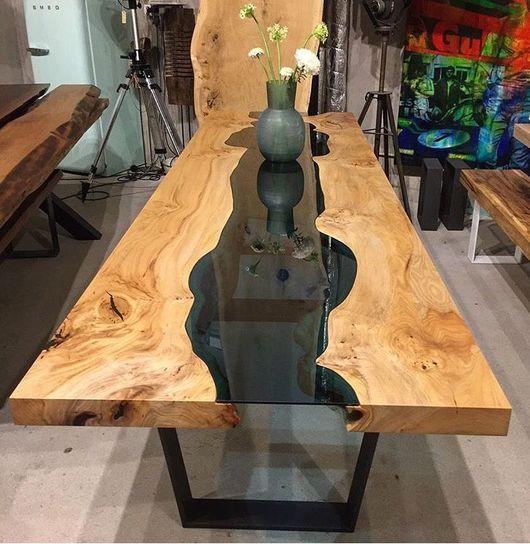 """Мебель ручной работы. Ярмарка Мастеров - ручная работа. Купить Стол """"Река"""" из слэбов ценных пород. Handmade. Стол"""