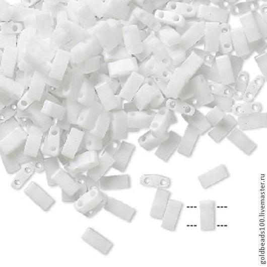 Для украшений ручной работы. Ярмарка Мастеров - ручная работа. Купить MIYUKI Half-Tila 402 opaque white. Handmade.