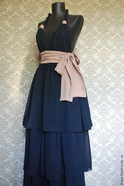 Пляжные платья ручной работы. Ярмарка Мастеров - ручная работа. Купить Длинное шифоновое платье. Handmade. Летнее платье, платье