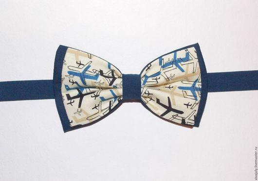 """Галстуки, бабочки ручной работы. Ярмарка Мастеров - ручная работа. Купить Галстук - бабочка """"Самолеты"""". Handmade. Галстук, бабочка, свадьба"""