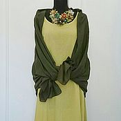 Одежда ручной работы. Ярмарка Мастеров - ручная работа Платье Горчица+бонус. Handmade.