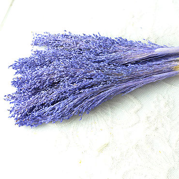 Цветы и флористика ручной работы. Ярмарка Мастеров - ручная работа Просо фиолетовое тонированное сухоцвет букетик. Handmade.