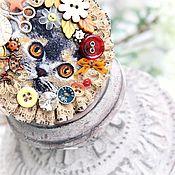 Украшения ручной работы. Ярмарка Мастеров - ручная работа Осенняя история кота.. брошь кольцо горчичный уют купить. Handmade.