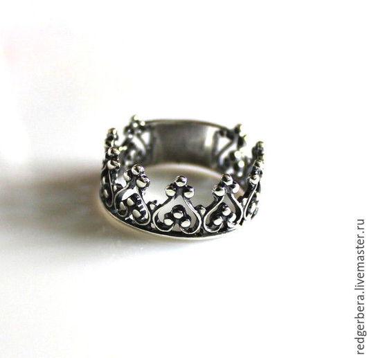 """Кольца ручной работы. Ярмарка Мастеров - ручная работа. Купить Кольцо """"Корона для принцессы - 2"""" серебро 925 пробы. Handmade."""