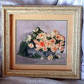 """Картины и панно ручной работы. Ярмарка Мастеров - ручная работа Картина """"Чайные розы"""". Handmade."""