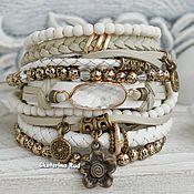 Украшения handmade. Livemaster - original item White bracelet with rock crystal
