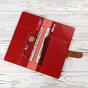 Холдер для путешествий кожаный красный