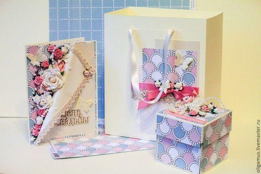 Открытки на все случаи жизни ручной работы. Ярмарка Мастеров - ручная работа. Купить Комплект: открытка, коробочка для денежного подарка в пакете. Handmade.