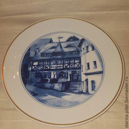 Винтажная посуда. Ярмарка Мастеров - ручная работа. Купить Тарелка Мейссен.. Handmade. Синий, фарфор