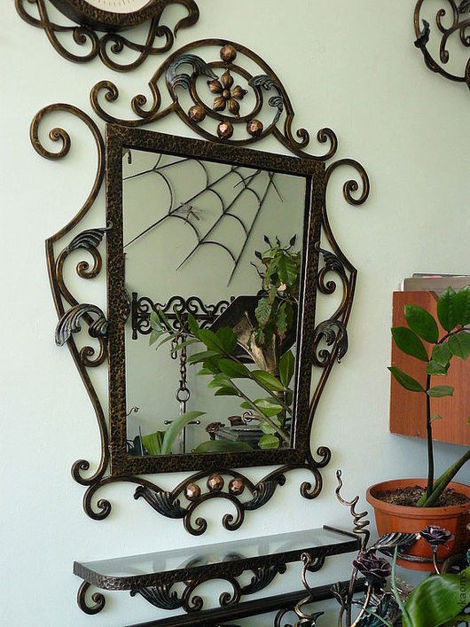 Зеркала ручной работы. Ярмарка Мастеров - ручная работа. Купить Зеркало настенное. Handmade. Зеркало, Кованое зеркало, художественная ковка