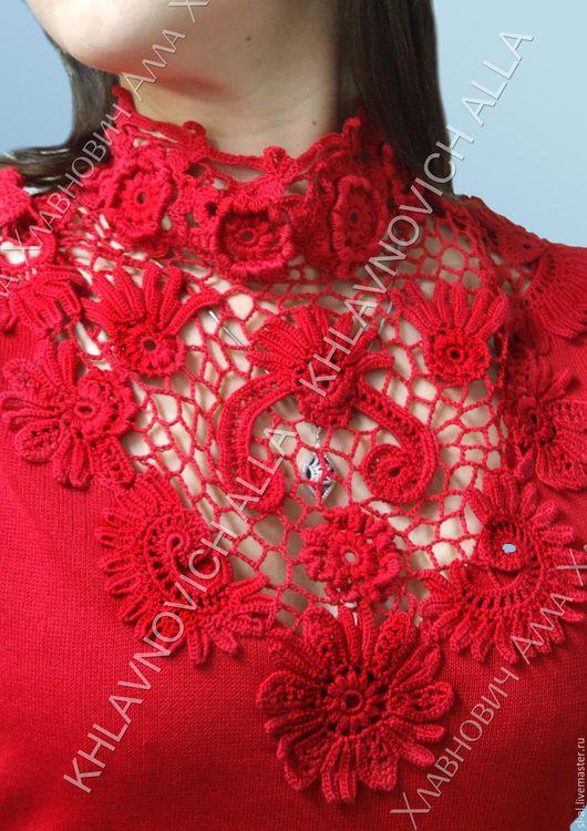 """Блузки ручной работы. Ярмарка Мастеров - ручная работа. Купить Блуза """"Пастораль"""" Модель № 698. Handmade. Ярко-красный"""