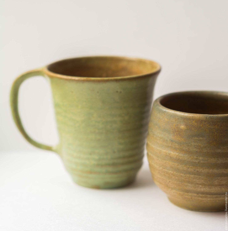 Вазы ручной работы. Ярмарка Мастеров - ручная работа. Купить Стаканчик и чашка Суматра. Handmade. Кофе, чашка, парочка