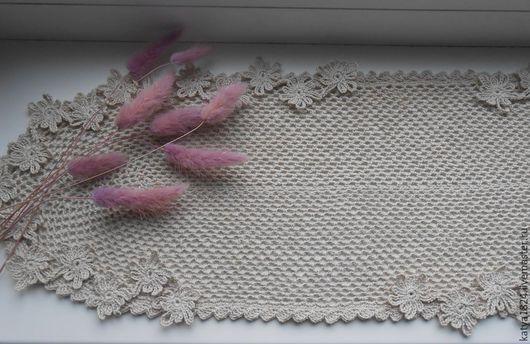 """Текстиль, ковры ручной работы. Ярмарка Мастеров - ручная работа. Купить """"Простота"""" салфетка. Handmade. Светло-серый, бохо-стиль"""
