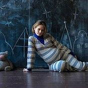 """Одежда ручной работы. Ярмарка Мастеров - ручная работа комбинезон для будущих мам """"Я еще и вышивать умею"""". Handmade."""
