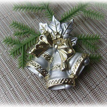 """Винтаж ручной работы. Ярмарка Мастеров - ручная работа Брошь """"Рождественские колокольчики"""". Handmade."""